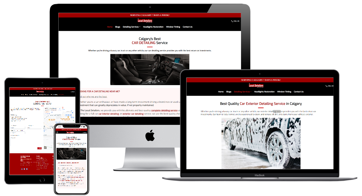 Local Detailers Custom Website Design Example
