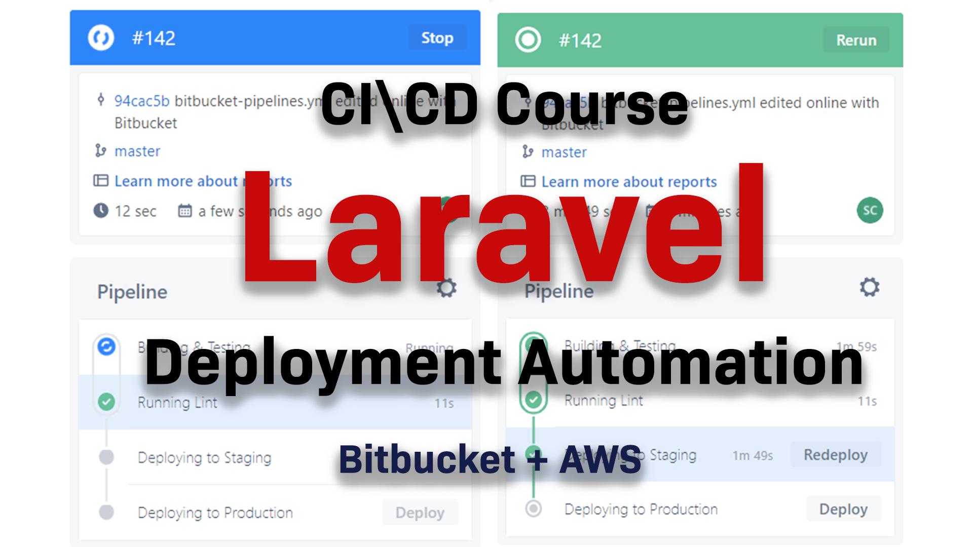 Laravel CI\CD using AWS RDS EC2 S3 CodeDeploy BitBucket